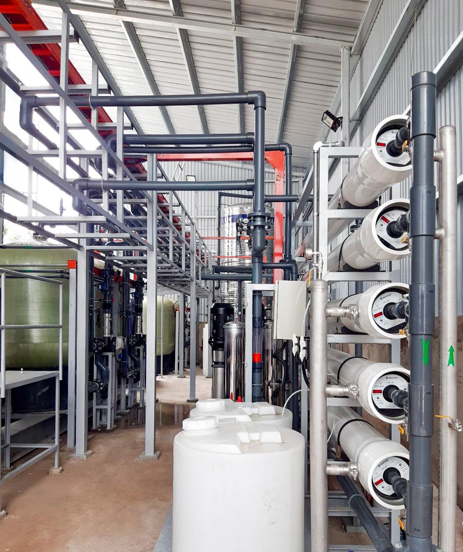 Hệ thống lọc nước RO 20 m3/h có Silica đã thi công thực tế
