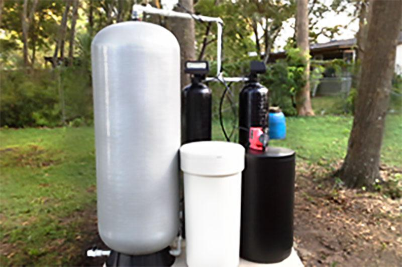 Well water treatment for household