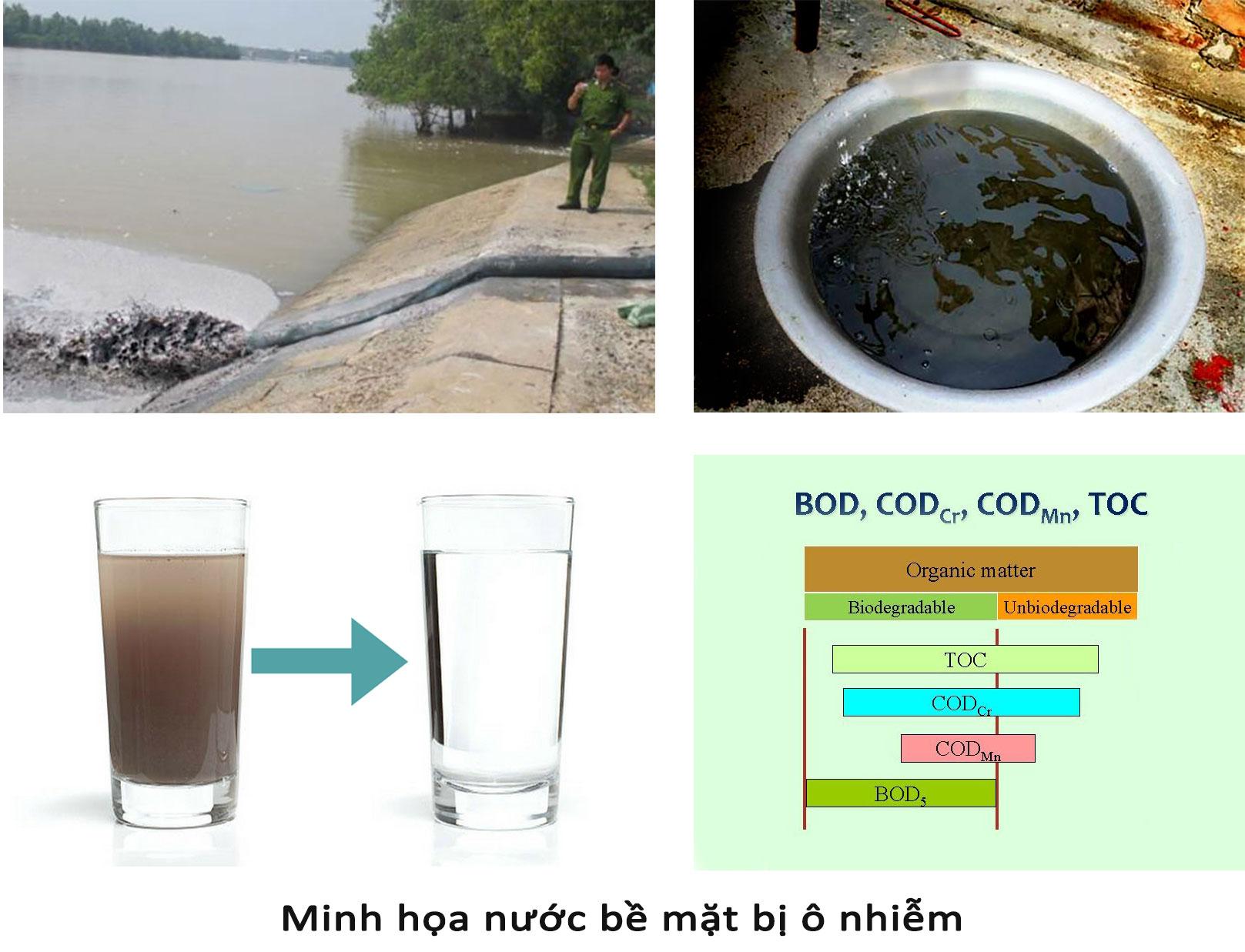 Nước bề mặt bị ô nhiễm
