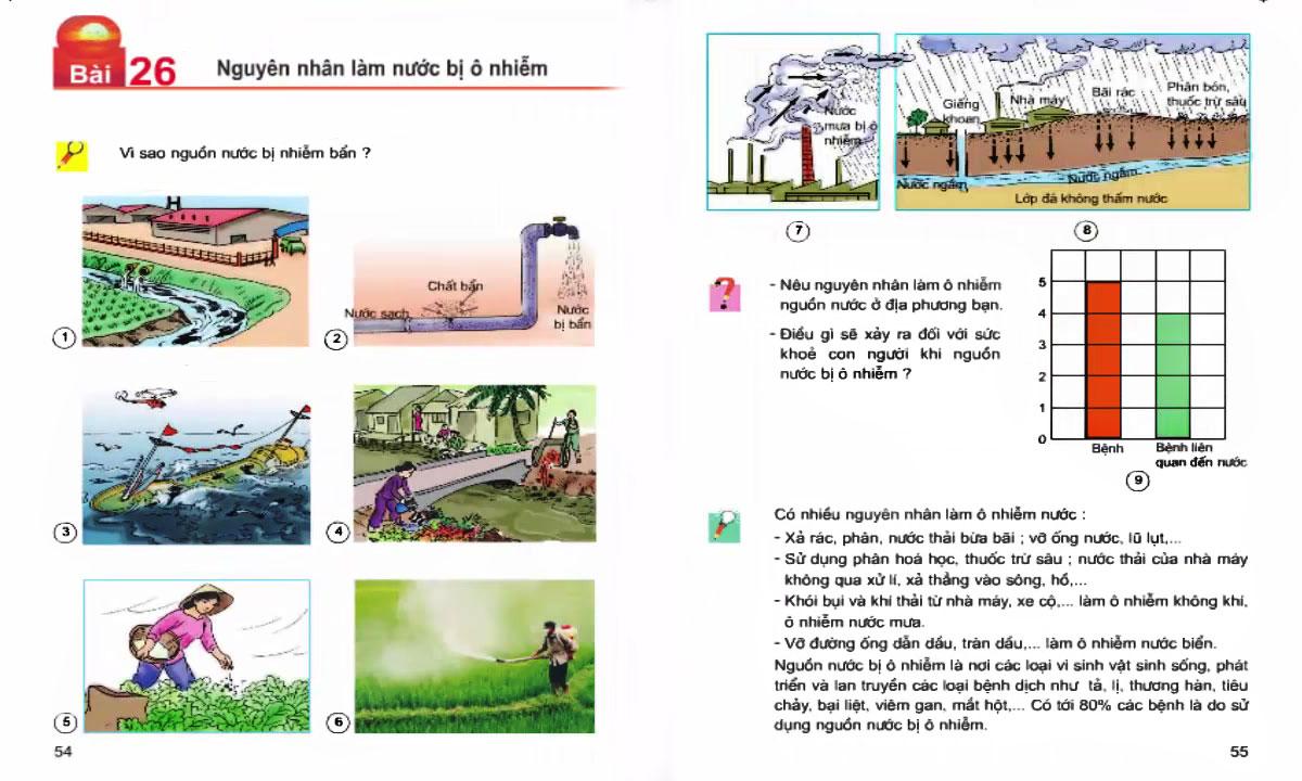 Một số thông tin mà học sinh lớp 4 được học liên quan đến nước 2