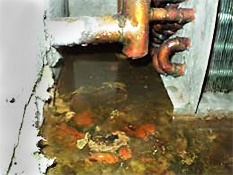 Máng thu không và có dùng viên diệt khuẩn, diệt tảo AHU-FCU-7014 (Ảnh 1)