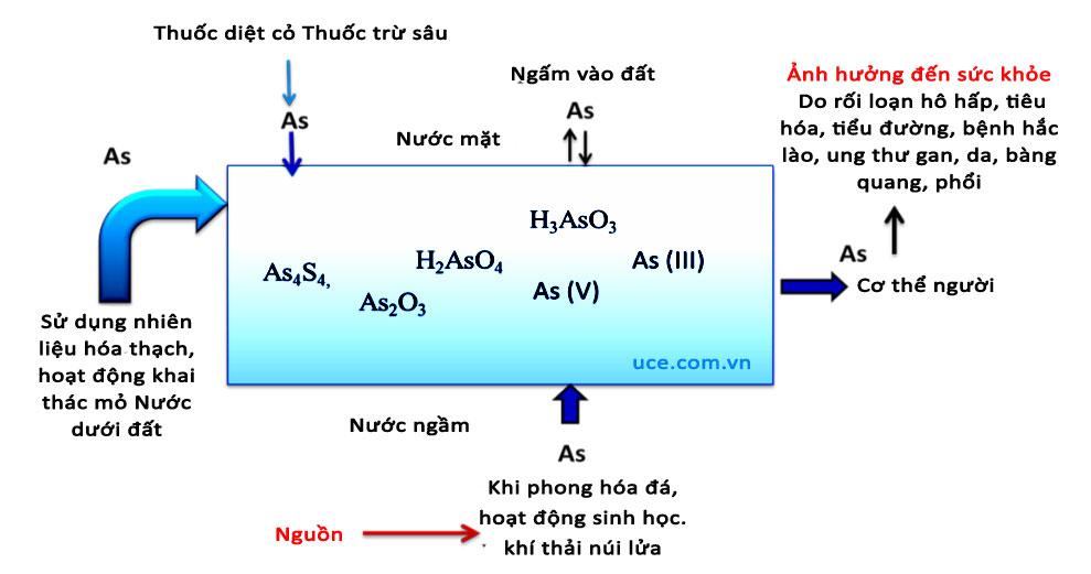 Sử dụng nước chứa độc tố asen gây ảnh hưởng sức khỏe