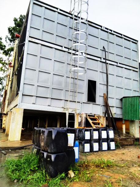 Vệ sinh cáu cặn tháp giải nhiệt 12.000 RT tại nhà máy đường với hóa chất ND-H701