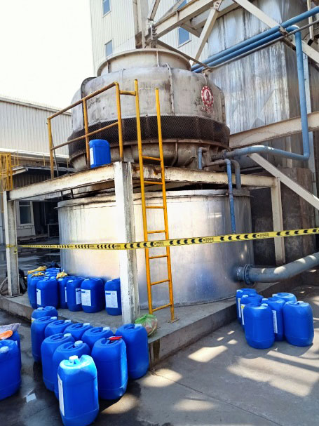 Vệ sinh toàn bộ hệ thống giải nhiệt tại nhà máy gỗ MDF với hóa chất ND-SM10