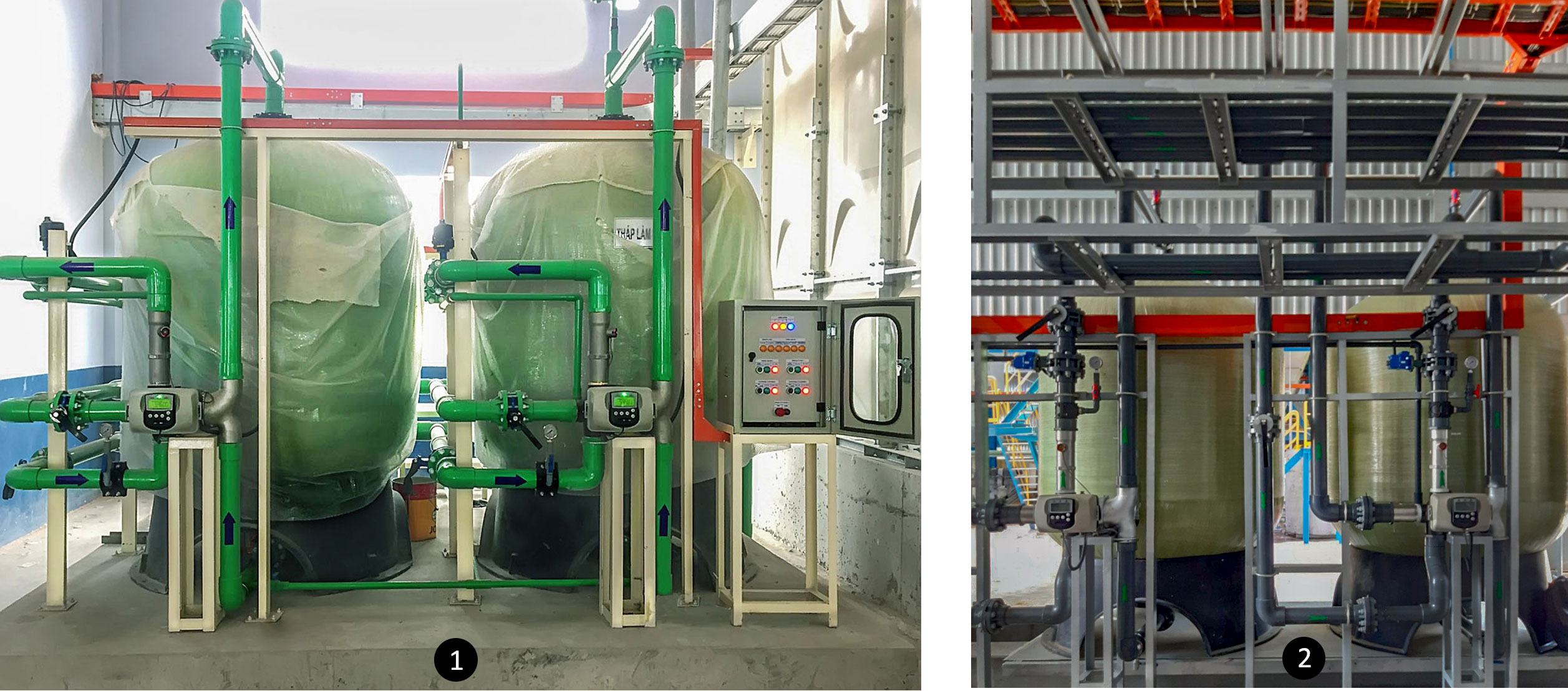 Both regenerate on setted up volume to optimize operating costs