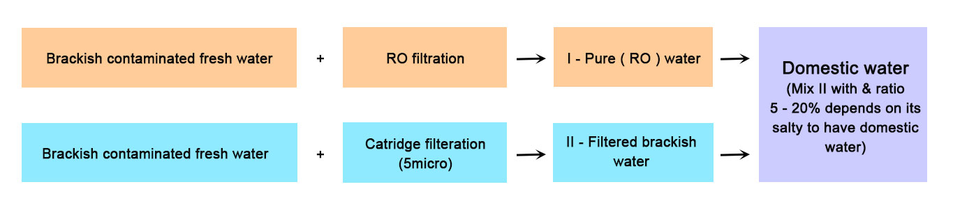 using-ro-membrane-to-treat-salty-water-and-adding-minerals-back-become-domestic-water