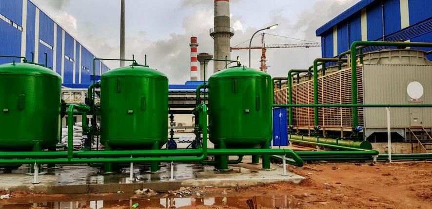sand-filter-for-cooling-water-of-steel-plant-high-efficiency-installed-by-uce-co-ltd