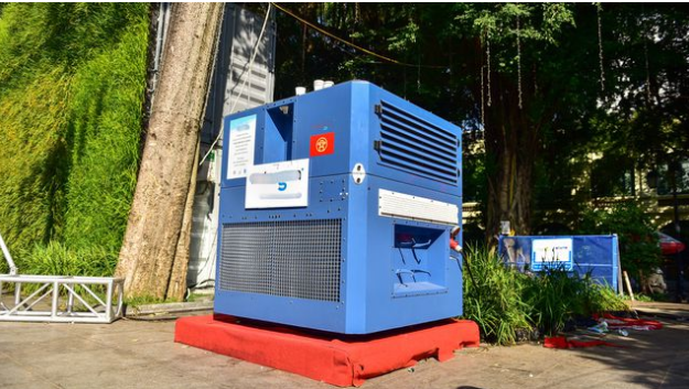 machine-to-collect-water-from-the-air-for-drinking-located-in-the-park